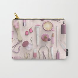 Pink Vanity Table Carry-All Pouch