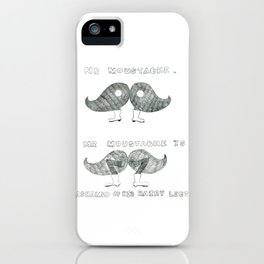 mr moustache iPhone Case