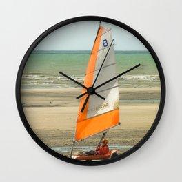 char à voile, le Touquet  Wall Clock