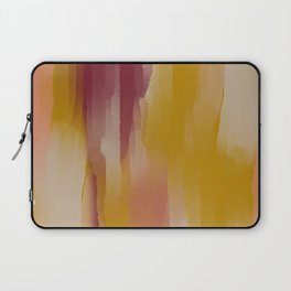 Mustard Cherry Blush Watercolor Fall Abstract Laptop Sleeve