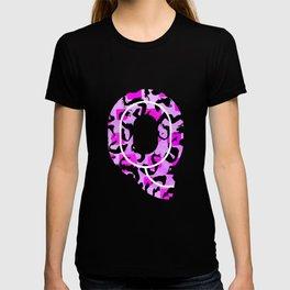 Letter Q Watercolour Leopard Print Alphabet T-shirt
