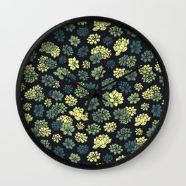 Succulents Pattern Wall Clock