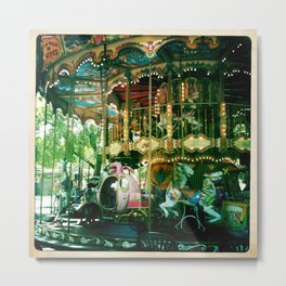 One of many carousels in France Metal Print