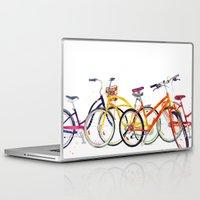bikes Laptop & iPad Skins featuring bikes by takmaj