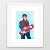 marty mcfly Framed Art Prints featuring McFly by Ana Maia