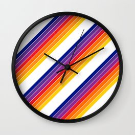 Rainbow Candy Stripe Wall Clock