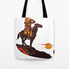 Native American Sunset Tote Bag