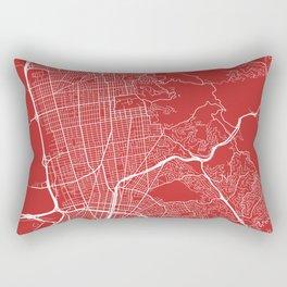 Berkeley Map, USA - Red Rectangular Pillow