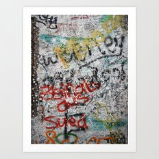 berlin wall Art Print