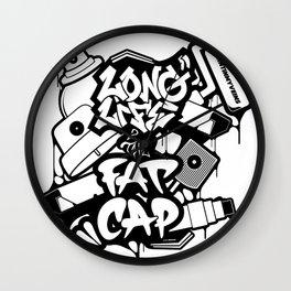 Long Life 2 The Fatcap [PAINTINMYVEINS] Wall Clock