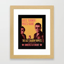 The Last Shadow Puppets - Age of the Understatement poster Framed Art Print