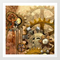 steampunk Art Prints featuring steampunk by Ancello