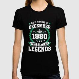 December 1980 The Birth Of Legends T-shirt