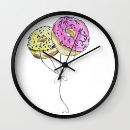 Doughnut Balloons Wall Clock