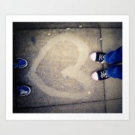 Street Love Art Print