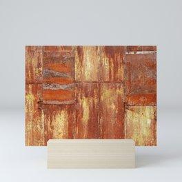 Rusty metal wall surface Mini Art Print