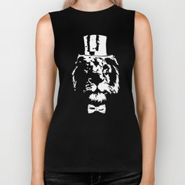 Lion wearing cylinder top hat #society6 #decor #buyart #artprint Biker Tank