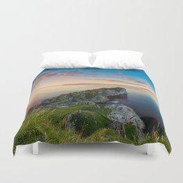 Kinebane castle,Ireland,Northern Ireland,Antrim coast Duvet Cover