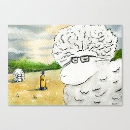 The Prof has a Plan Canvas Print