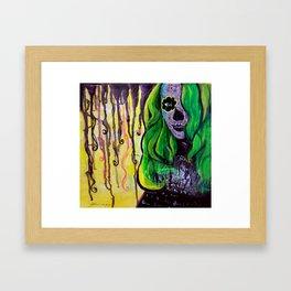 Citrus Sugar Skull Framed Art Print