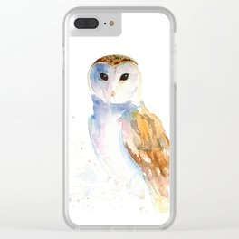 Evening Barn Owl Clear iPhone Case