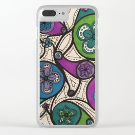 Patterns VG-102 Clear iPhone Case