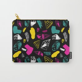 Print in memphis style design Carry-All Pouch