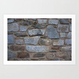 WALL STONES Art Print