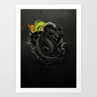 kiwi Art Prints featuring Kiwi by Constantine Vintage Poster Design