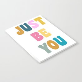 Colorful Just Be You Lettering Notebook