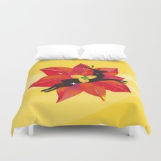Happy Red Christmas - A Stroke of Good Fortune Duvet Cover