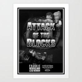 Attack of the Blocks Poster Art Print