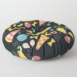 Italian food - Black chalkboard  Floor Pillow