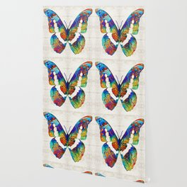 Colorful Butterfly Art by Sharon Cummings Wallpaper