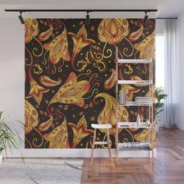 Ethnic black pattern Wall Mural