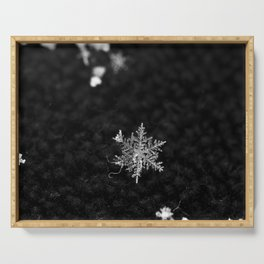 Snowflake of night Serving Tray