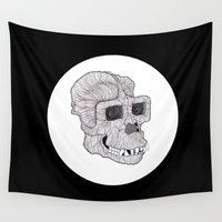 ape Wall Tapestries featuring Ape by Camelo