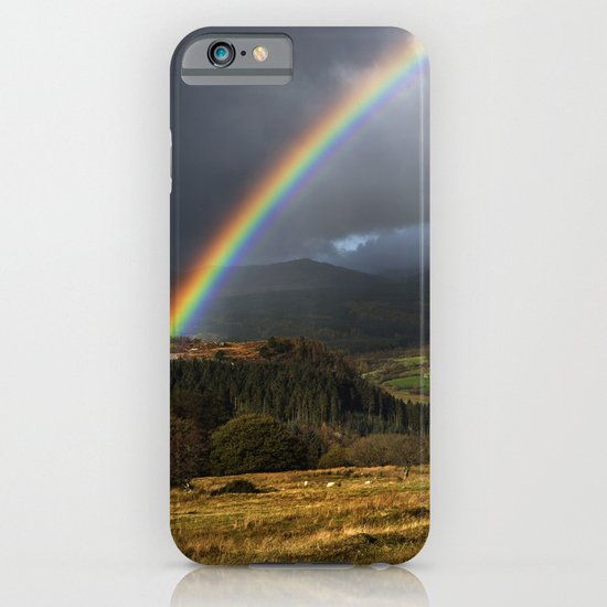 Rainbow, Lledr Valley, Snowdonia, North Wales, UK. iPhone & iPod Case