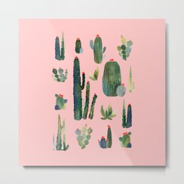 cactus pink new version! Metal Print