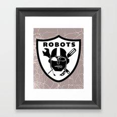 Raider robots Framed Art Print