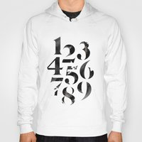 numbers Hoodies featuring Numbers by Sibling & Co.