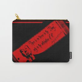 """There is no terror in the BANG...""-Alfred Hitchcock Carry-All Pouch"