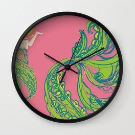 The Mermay! Glitch Wall Clock