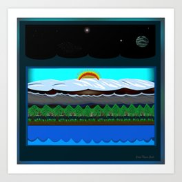 Horizon #42 Art Print