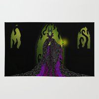 maleficent Area & Throw Rugs featuring Maleficent by JackEmmett