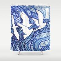 freedom Shower Curtains featuring Freedom by Verismaya