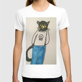Goth Kitty  T-shirt