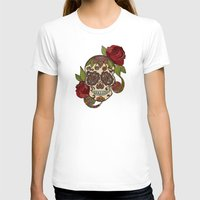 sugar skull T-shirts featuring Sugar Skull by Valentina Harper