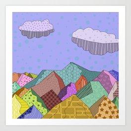 Pattern Landscape Art Print