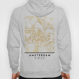 AMSTERDAM NETHERLANDS CITY STREET MAP ART Hoody